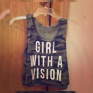 Girl with a Vision Crop Top